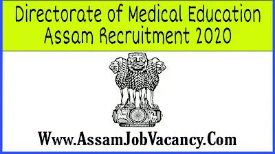 Directorate of Medical Education Assam Recruitment 2020 - Apply for Team Leader, Finance & Procurement Expert Post