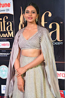 Cute Rakul Preet Singh in Deep Neck Cream Crop top Choli and Ghagra at IIFA Utsavam Awards March 2017  HD Exclusive Pics 03.JPG