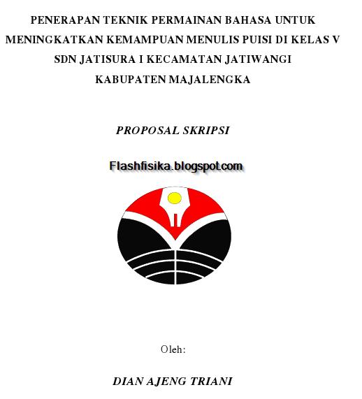 Proposal Skripsi: PENERAPAN TEKNIK PERMAINAN BAHASA UNTUK
