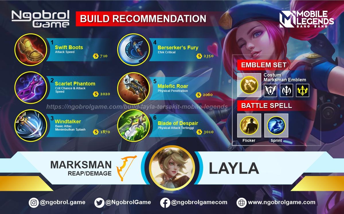 Build Layla Savage Mobile Legends