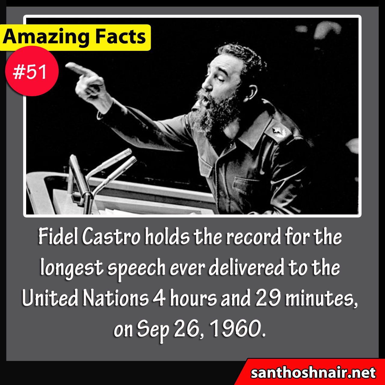 Amazing Facts #51 - Longest Speech Ever Delivered in UN