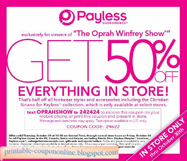 photo regarding Payless Printable Coupons identify Payless ShoeSource Discount codes Promo Codes