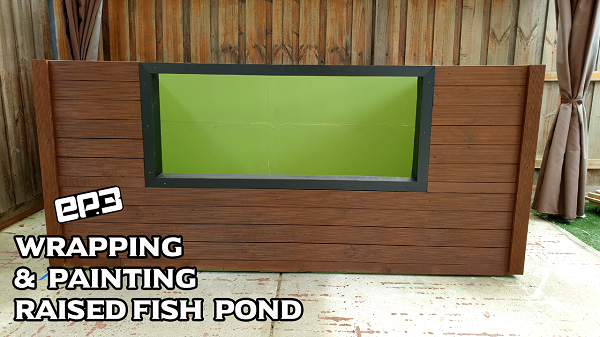Wrapping And Painting Raised Fish Pond