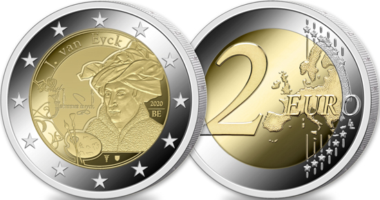 Belgium 2 euro 2020 - Year of Jan van Eyck