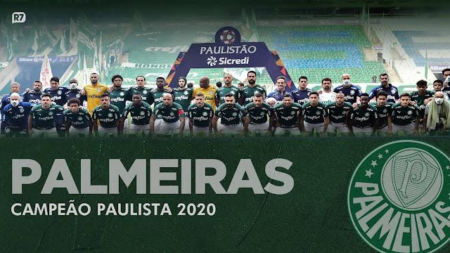 Palmeiras é campeão e quebra jejum de 12 anos. Baixe o pôster! (R7)