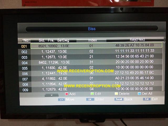 NEOSAT SX-9900 HD SPECTRA PLUS RECEIVER POWERVU KEY OPTION