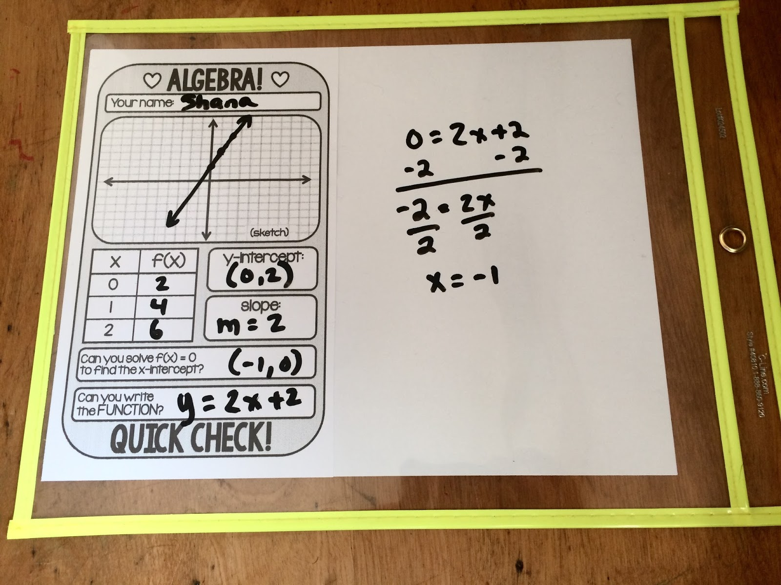 Scaffolded Math And Science Algebra 1 Warm Up Template