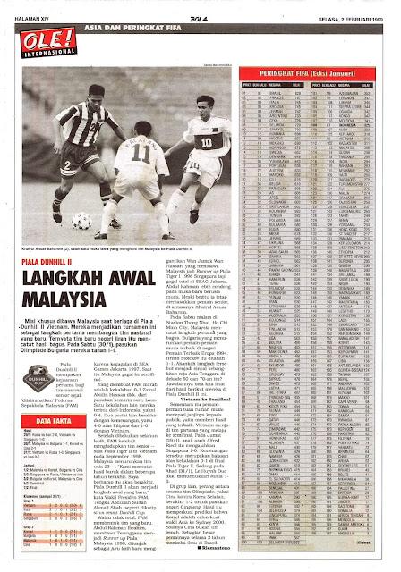 PIALA DUNHILL II LANGKAH AWAL MALAYSIA