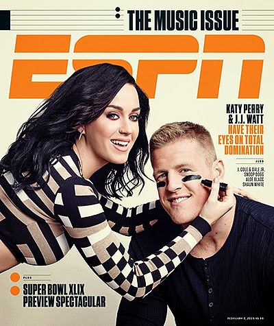 Katy Perry on the cover of ESPN Music Issue