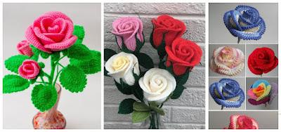 Rosas-tejidas