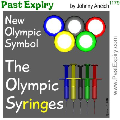 Cartoon about olympics, drugs,
