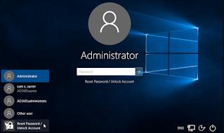 tampilan windows password