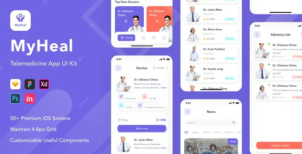 Best Telemedicine App UI Kit