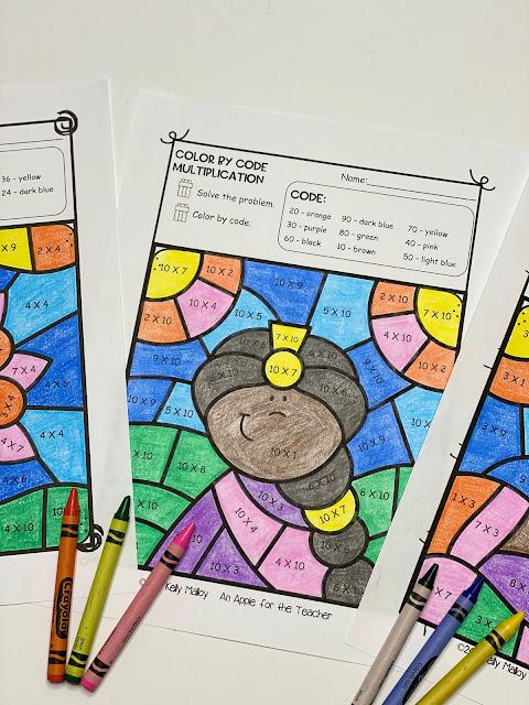 Diwali Multiplication Color By Number Worksheet girl