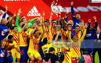 عدد ألقاب برشلونة في كأس ملك إسبانيا