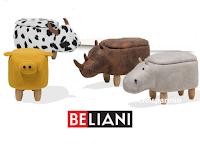 """Concorso Beliani """" Un regalo per i più piccoli"""" : vinci gratis un Pouf a forma di animaletto"""