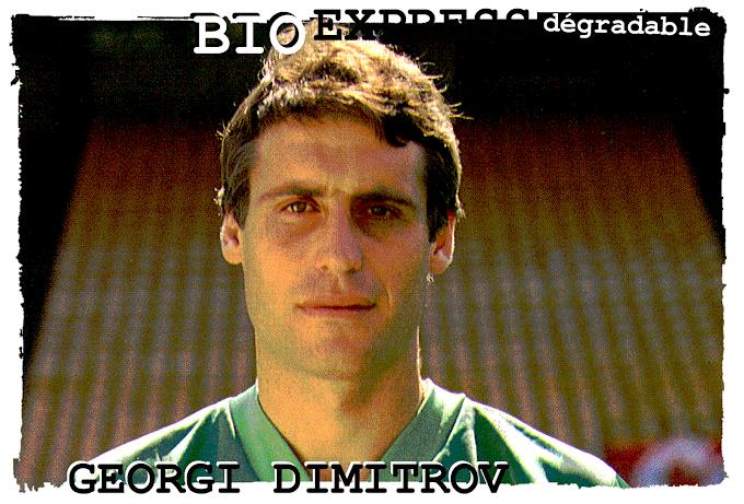 BIO EXPRESS DEGRADABLE. Georgi Dimitrov (14/01/1959-08/05/2021).