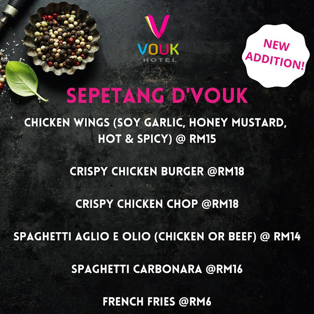 """Konsep Pandu Lalu & Food Delivery """"Lock"""" Your Food di Sepetang D'Vouk, Vouk Hotel by The Blanket"""
