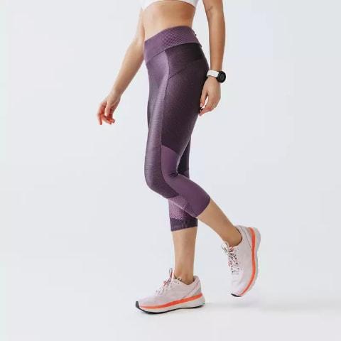 Colanti dama pentru alergare Jogging Run Dry+ Mov KALENJI