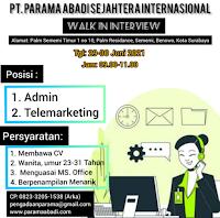 Walk In Interview at PT. Parama Abadi Sejahtera Internasional Surabaya Juni 2021