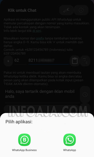 klik untuk chat whatsapp