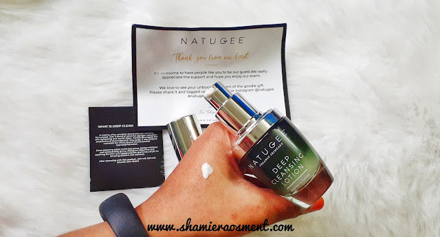 Natugee Deep Cleansing Lotion, natugee, natugee review,