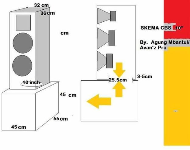 Skema box speaker 10 inch