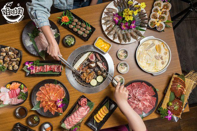 燒肉海鮮吃到飽已經不能滿足你?這裡還有生魚片讓你無限吃到飽!挪威鮭魚、甜蝦通通有-秘町無煙炭火燒肉澄清店