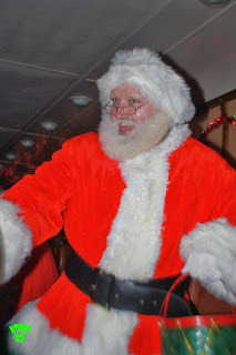Santa on the Santa Train Ride
