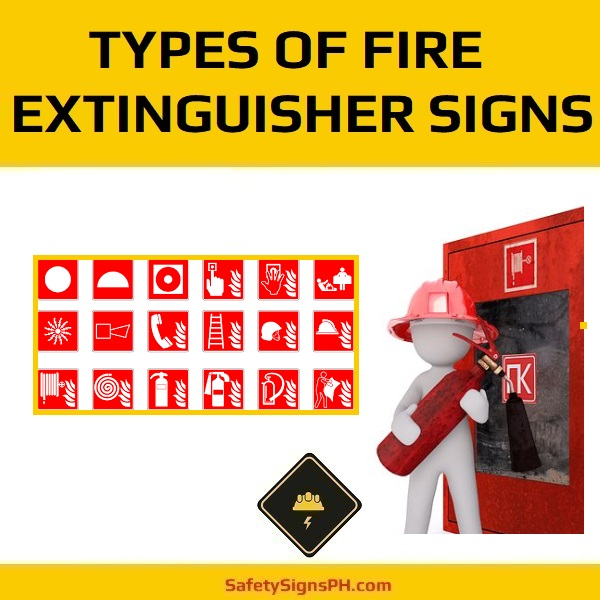 Types of Fire Extinguisher Signs
