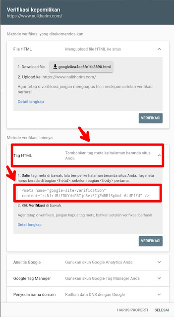 Cara Mudah Mendaftarkan Google Webmaster Tools