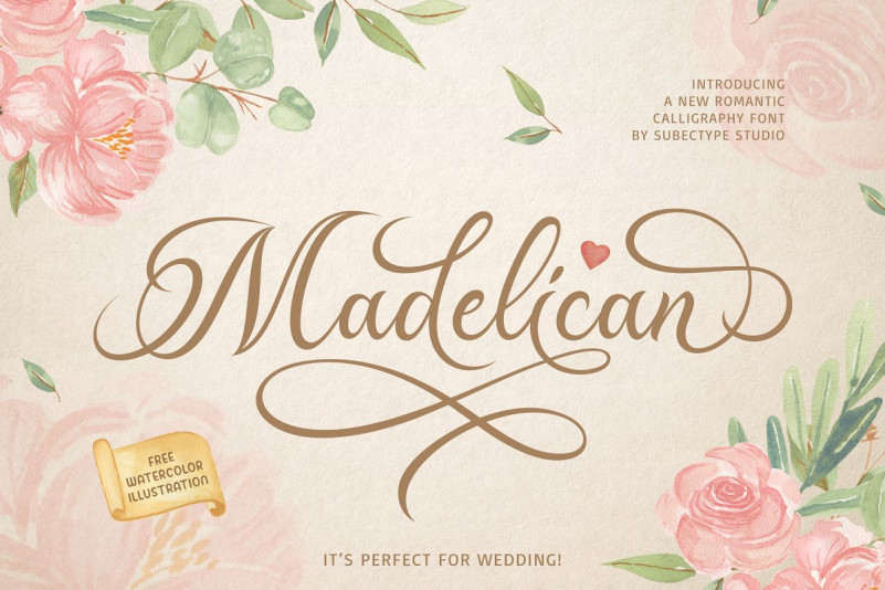 Madelican Font - Free Script Calligraphy Typeface