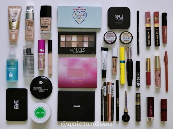 Zajrzyj do mojej kosmetyczki, czyli przegląd kosmetyków do makijażu (2020/2)
