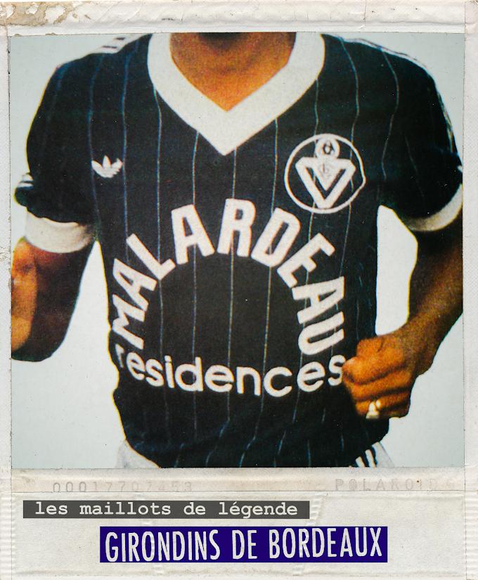 MAILLOT DE LEGENDE. Girondins de Bordeaux 1984.