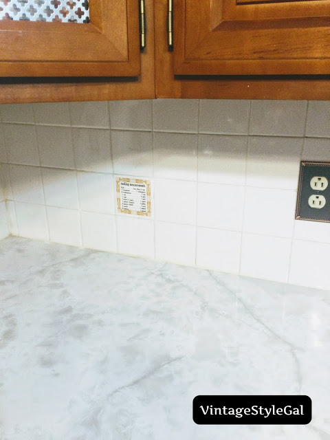 measurements on accent tile in kitchen