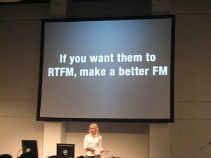 If you want them to RTFM, make a better FM