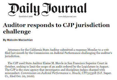 State Auditor Files Response to CJP Lawsuit Trying to Block Legislature Ordered Audit of Judge Oversight Agency