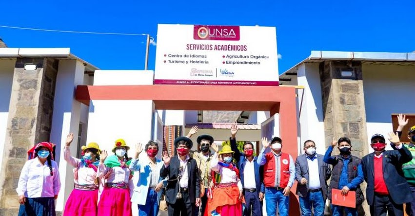 UNSA y el Gobierno regional de Arequipa se unen para ofrecer estudios y profesión a la población de la provincia de La Unión