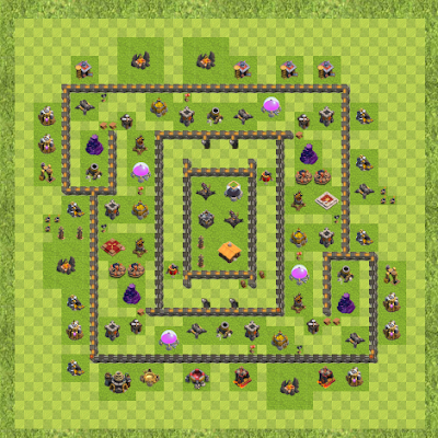 War Base Town Hall Level 9 By Kyle Scholtes (Real LifeTH 9 Layout)