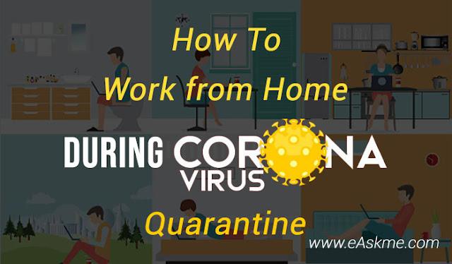 How to Work from Home During Coronavirus Quarantine: eAskme