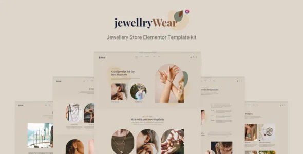 Best Jewellery Store Elementor Template kit