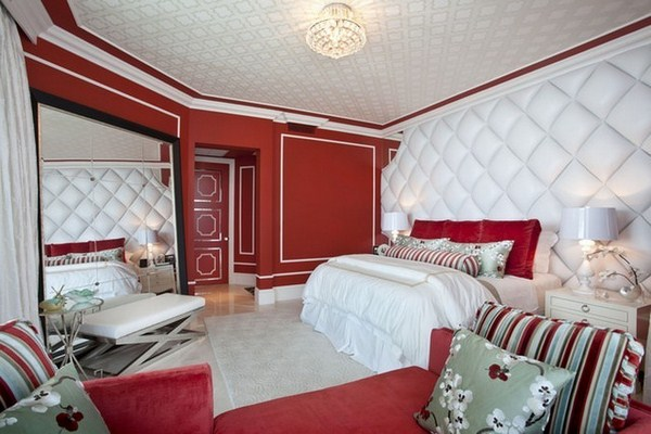Red Bedroom Design A Striking Interior