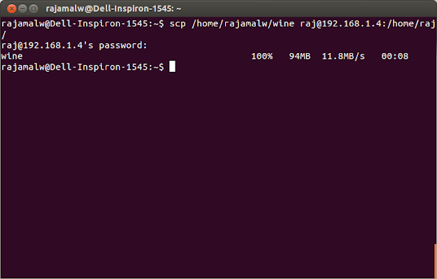 transfer files in linux via terminal