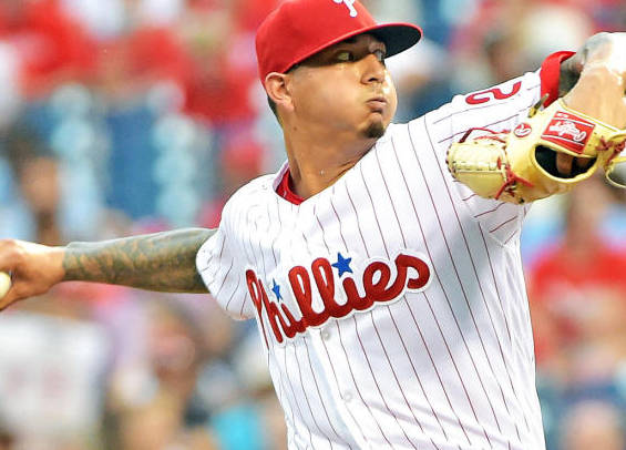 Phillies win fourth straight behind Velasquez as Harper homers again