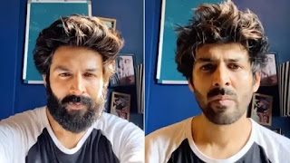 kartik aaryan shaved off his beard