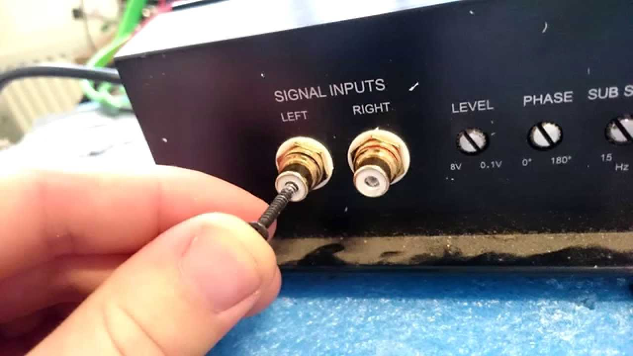 How To Repair Broken Car Amp RCA Inputs Jack - How To Install Car