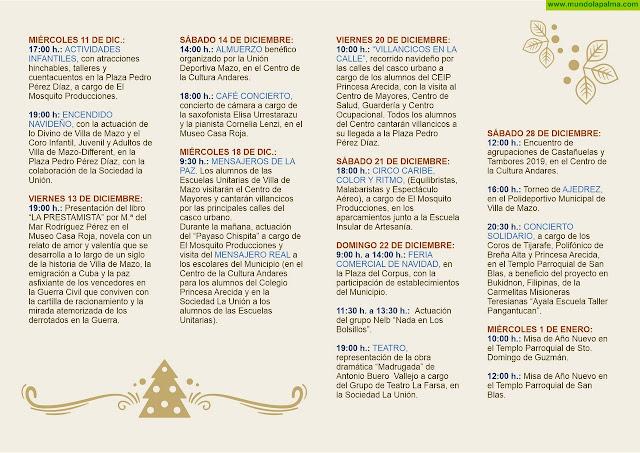 Programa de Navidad Villa de Mazo 2019