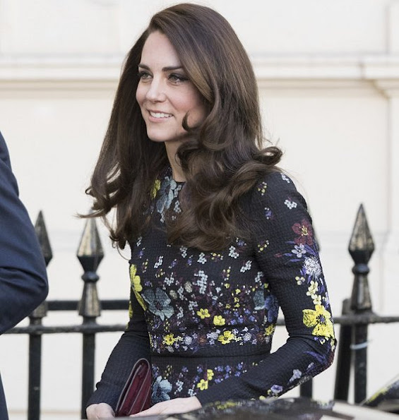 Prince Harry. Kate Middleton wore ERDEM Evita Dress, Tod's Fringed Leather Pumps, Mulberry Clutch