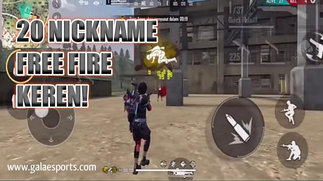 Free Fire - 35 NickName Keren Terbaru Wajib Coba