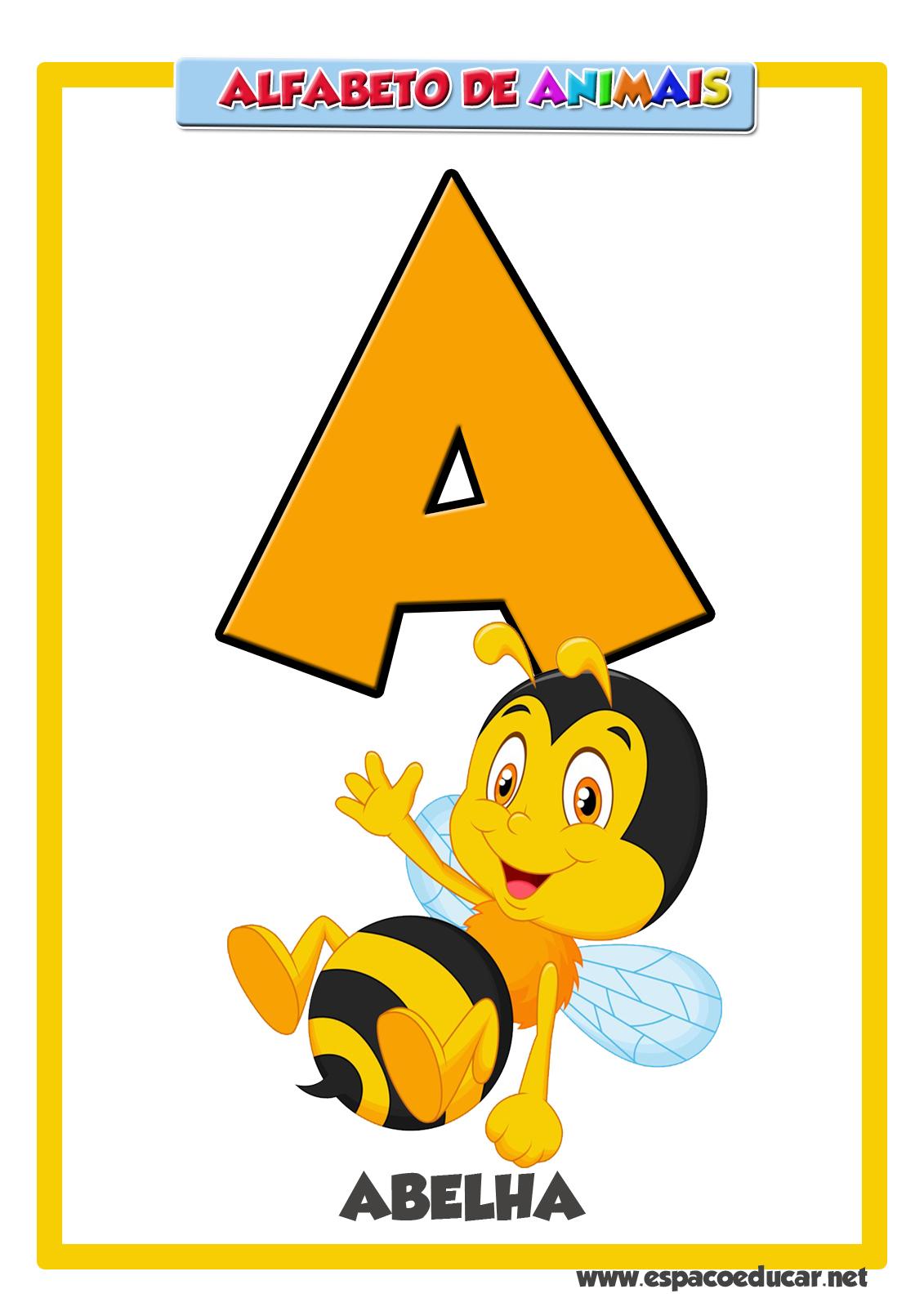 Muitas vezes ESPAÇO EDUCAR: Alfabeto de animais grátis para você! Cartaz letra  VK24